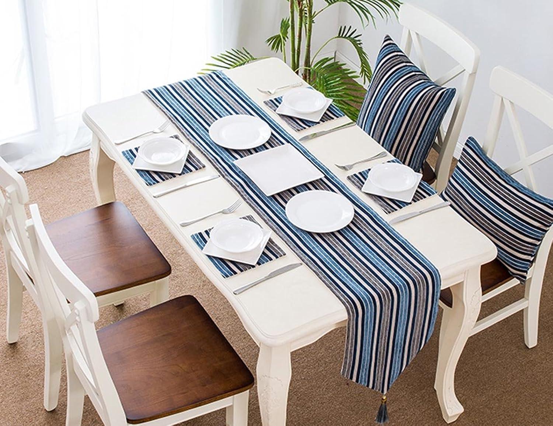 The taste of home Tovaglia Lunga da Tavolo Moderna tavolino, Realizzata a uomoo, Adatta per la Decorazione della Festa Nuziale -32  160cm (Coloree   Style 2, Dimensione   32x210CM)