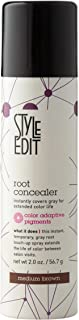 Style Edit Root Concealer Touch Up Spray | Instantly Covers Grey Roots | Professional Salon Quality Cover Up Hair Products for Women | Medium Brown 2 Ounce