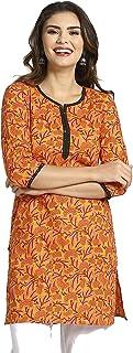Srishti By Fbb Cotton Printed Kurta - Women-Yellow