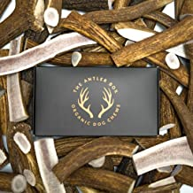 The Antler Box-Premium Elk Antler Dog Chews (1 lb Bulk Pack) -Both Whole and Split Antlers-Long Lasting Organic Chewing Toys Sourced from Naturally Shed Antlers in The USA