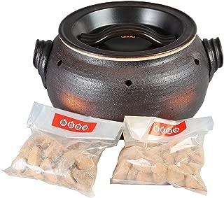 【国内▪海外配送対応】萬古焼 石焼き芋鍋 いも太郎 天然石約300g2袋付 直火対応 SE2415