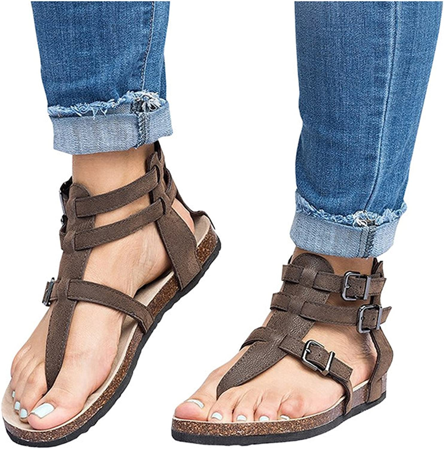 Jeff Tribble 2018 Summer Women Casual shoes Flat Buckle Sandals