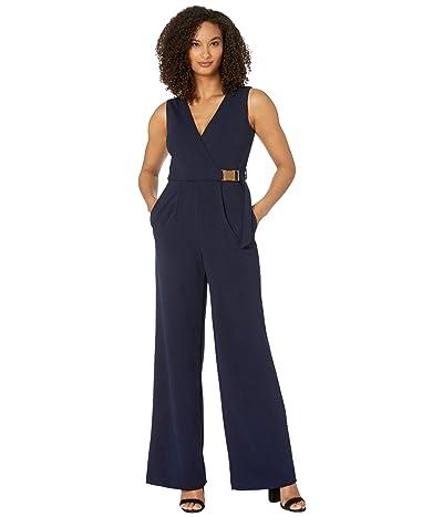 Calvin Klein Surplus Neck Jumpsuit with Side Buckle (Indigo) Women