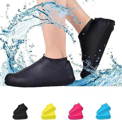 Xanadu Non Slip Silicone Rain Boot Shoe Cover Reusable Silicone Boot and Shoe Covers Waterproof Rain Socks Silicone Rubber Shoe Protectors for Indoor and Outdoor Protection Random Color