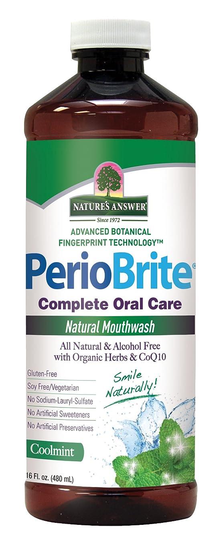 釈義テクニカル退却Nature's Answer Periowash Mouthwash, 475 ml (並行輸入品)