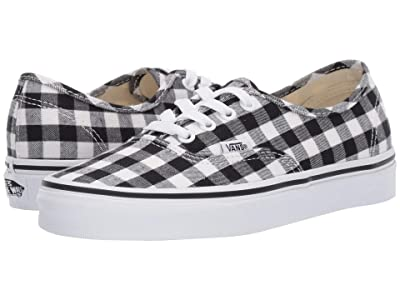 Vans Authentictm ((Gingham) Black/True White) Skate Shoes