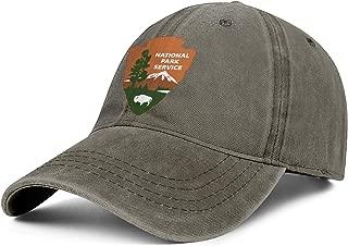 National Park Mens Denim Hat Adjustable Dad Trucker Golf Washed Baseball Cap