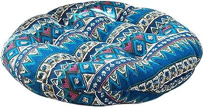 HEYJUDY Almofada de meditação de tecido áspero redondo de algodão e linho, almofada de cadeira de meditação redonda tapete...