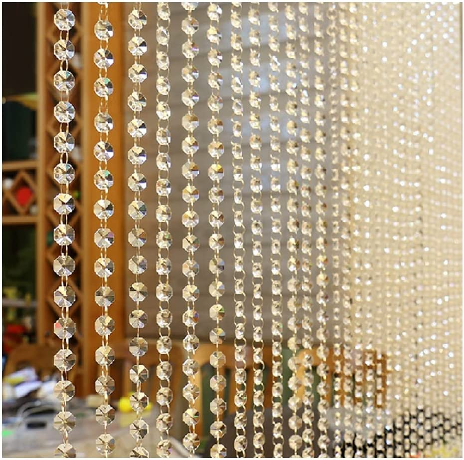 1Pc Crystal Glass Bead Curtain Home Decoration Luxury Living Room Bedroom Window Door Wedding Decor, for Wedding Coffee House Restaurant Parts Crystal , Easy to Install