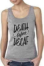 VISHTEA I Love Coffee Death Before Decaf Women's Tank Top All I Need is Coffee Tank Tops