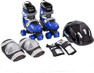 Chicago Boys Quad Roller Skate Combo - Includes Adjustable Skates, Knee Pads, Elbow Pads, & Helmet