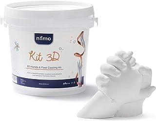 Kit de Moulage 3D Kit Moulage Empreinte Mains et Pieds Bebe Enfants Famille et Adultes Haute Qualité Alginate et Plâtre po...