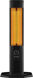 luxeva lxv1800Calefacción por infrarrojos Estufa Vertical | Indoor & Outdoor | 2000W | con campana), termostato | Moderno de carbono Resistencia calefactora Foco pie Calefacción
