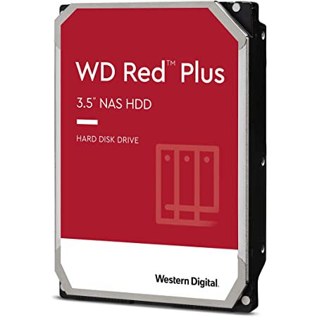 "Western Digital 10TB WD Red Plus NAS Internal Hard Drive HDD - 7200 RPM, SATA 6 Gb/s, CMR, 256 MB Cache, 3.5"" - WD101EFBX"