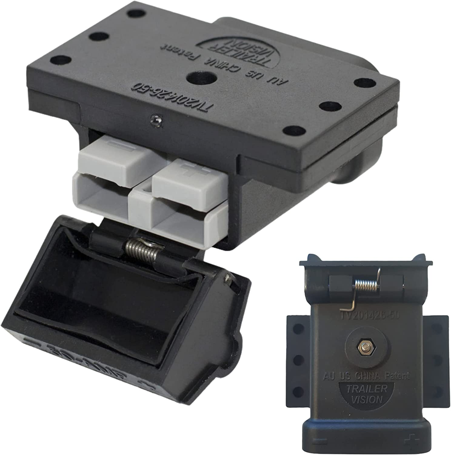 Trailer Vision 50A Ranking TOP15 Baltimore Mall Anderson Connector Kit Mounting 50Amp - Plug