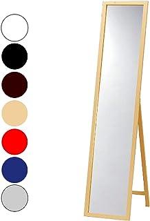天然パイン材 木製スタンドミラー ナチュラル 幅33cmx高さ150cm 全身 飛散防止