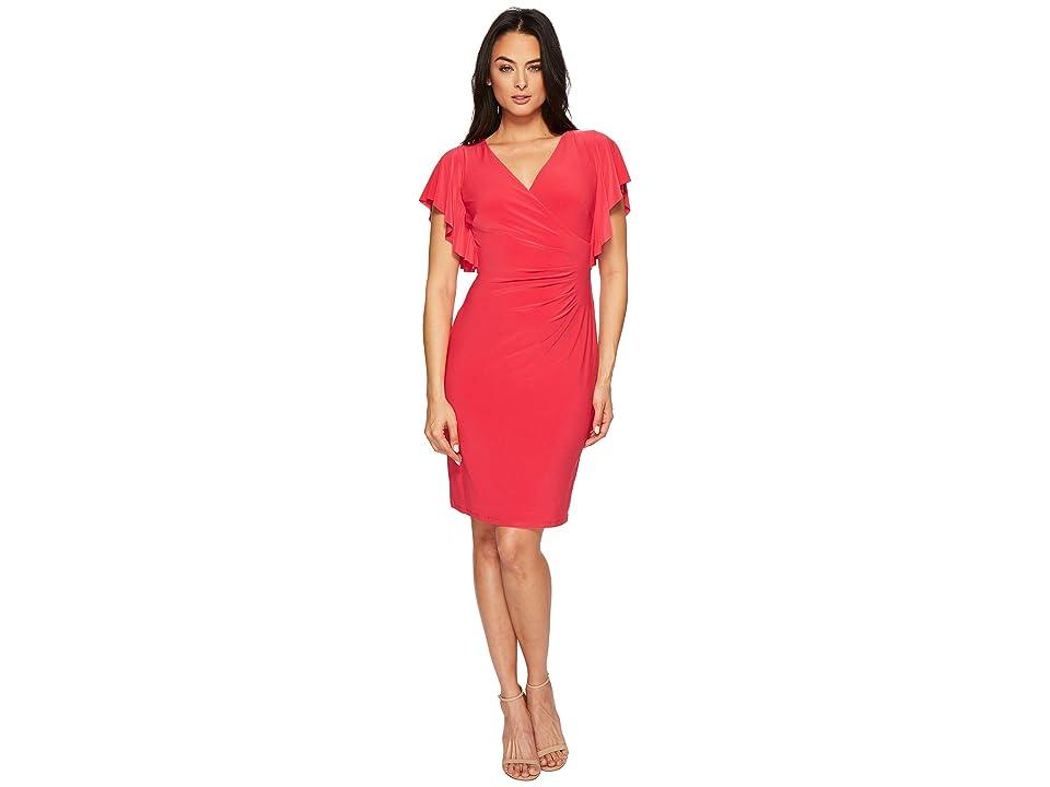LAUREN Ralph Lauren Kahlo Matte Jersey Dress (Pink Poppy) Women
