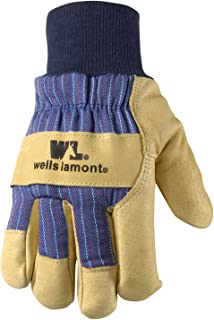 Men's Heavy Duty Leather Winter Work Gloves with Thinsulate Insulation (Wells Lamont 5127)