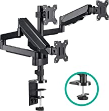 EleTab Triple Monitor Stand Mount – Full Motion Swivel 3 Monitor Desk Mount Stand..