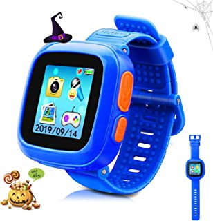 DUIWOIM Smart Watch for Kids with Digital Camera Games Touch Screen, Cool Toys Watch Gifts for Girls Boys Children (Blue)
