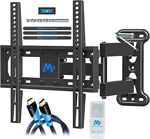 """Mounting Dream Corner TV Wall Mount for 26-55"""" TV, Full Motion TV Mount Bracket Kit Included Socket Wrench & Wood Dri..."""