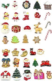 Paquete de 50 abalorios de Navidad con forma de baba de resi