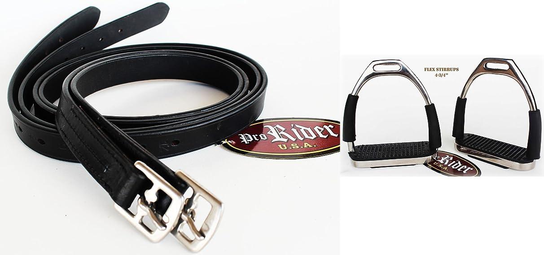 Adult English Horse Saddle Flex Stirrup Irons 4 3/4