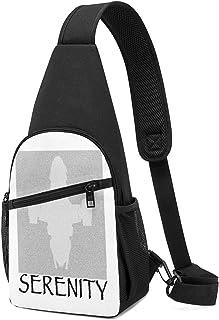 Hdadwy Serenity Film Script Silhouette Sling Mochila Sling Bag Black Crossbody Daypack Mochila informal Bolsa de pecho Moc...