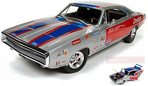 AUTO WORLD AW238 DODGE CHARGER R T 1970 DICK LANDRY 1 18 MODELLINO DIE CAST