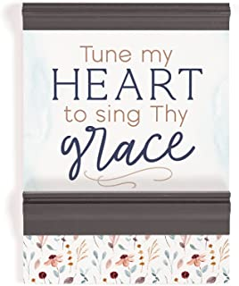 P. Graham Dunn Tune My Heart Dark Shadow Grey 11.5 x 8.5 MDF Wood Decorative Ornate Sign