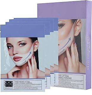 V-gezichtsvormend masker, 4 stuks 35 g V-lijn kin-up hydraterend verstevigend gezichtsmasker voor verbetering van de gezic...