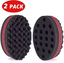 HALLO Big Holes Hair Twist Sponge Magic Barber Dreads Locking Twist Afro Curl Wave Sponge Hair Brush Sponge(2 Packs)
