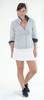 Devon Women's Active Performance Skort Lightweight Skirt for Running Tennis Golf Workout Sports (Medium) White