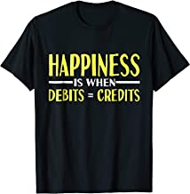 Happiness Is When Debits = Credits Accounting Funny T-Shirt