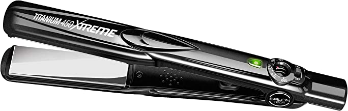 SALON TECH - Titanium Xtreme Flat Iron - Latest PTC Technology and Adjustable Temperature Settings for a Perfectly Sleek a...