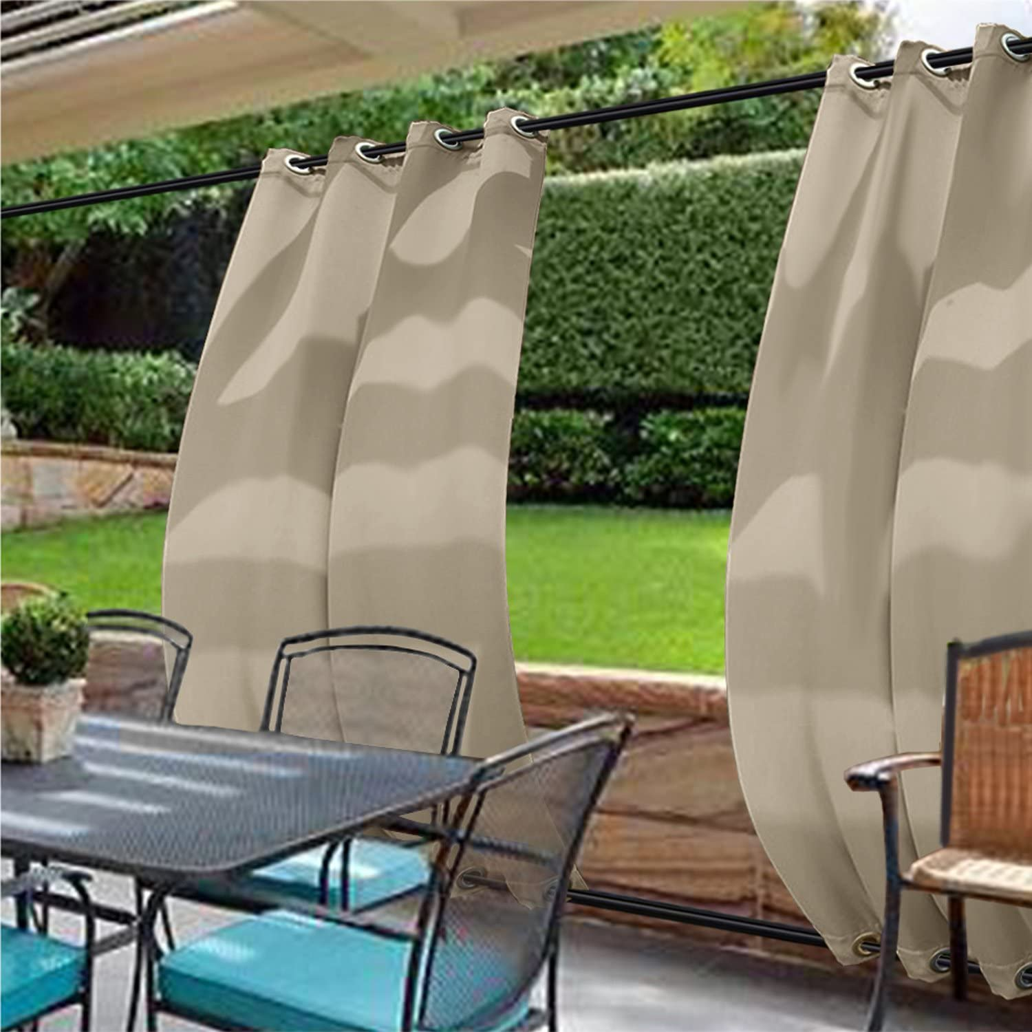 cololeaf Outdoor Curtains for Patio 記念日 セール品 Waterproof Wide Extra Curtai