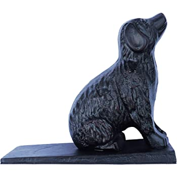 Holds Doors Firmly and Doesn/'t Budge Molika Cute Dog Door Stopper Heavy Duty Cast Iron Wedge Metal Door Stopper Decorative Rustic Door Stop