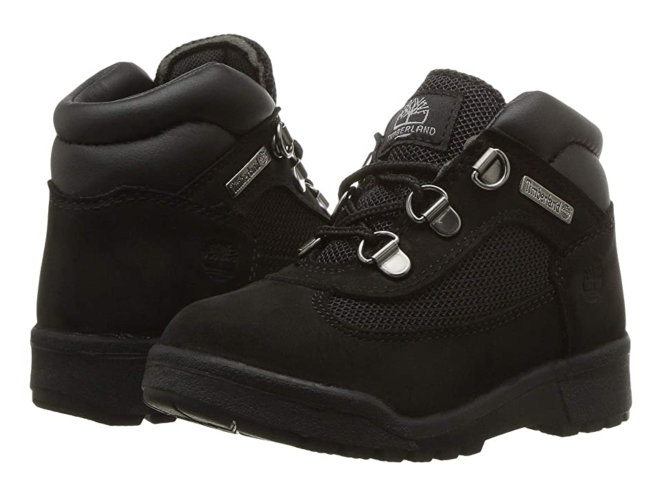 Timberland Kids Fabric/Leather Field Boot (Toddler/Little Kid) (Black Waterbuck Nubuck) Kids Shoes