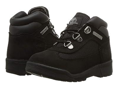 Timberland Kids Fabric/Leather Field Boot (Toddler/Little Kid) (Black Waterbuck Nubuck) Kids Shoes