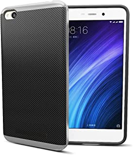 MTT Dual Layer Tough Armor Back Cover Case with Heavy Duty Protection for Xiaomi Redmi 4A (Silver)