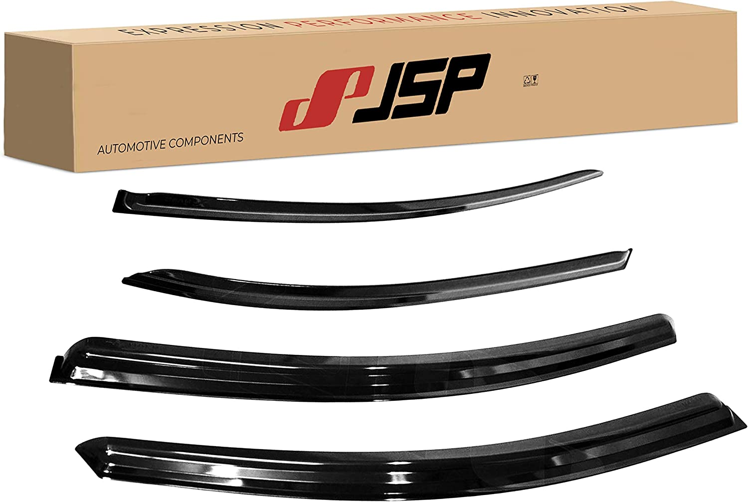 JSP Window Vent Deflector Rain Cheap 2012- Compatible Guard with Inventory cleanup selling sale Visor