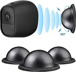 Soporte Magnético de Metal Montaje de Techo/ Mesa/ Pared de Seguridad de Cámara para Arlo Arlo Pro Arlo Pro 2 3 Pack (Negro)