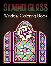 Staind Glass Window Coloring Book: A Fun Beautiful Stained Glass Designs for Stress Relief and Relaxation For Adults Vol-1