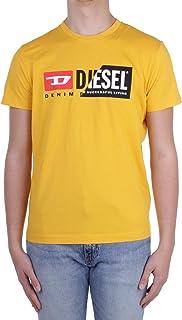Diesel T-Shirt Bianca Girocollo con Stampa Classica Logo