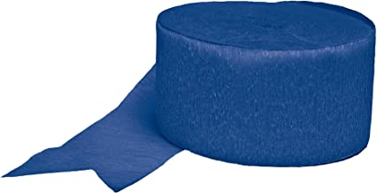 Bright Royal Blue Solid Crepe Streamer   Party Decor