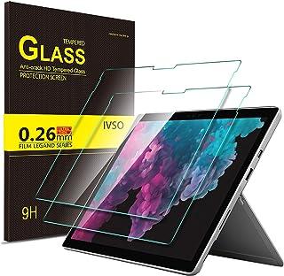 Luibor Microsoft Surface Pro 6 Protector de pantalla de vidrio templado Ultra-thin 9H Dureza y la más alta calidad HD clear Protector de pantalla de vidrio para Microsoft Surface Pro 6 / Surface Pro (5th Gen) / Surface Pro 4 Tableta (2 piezas)