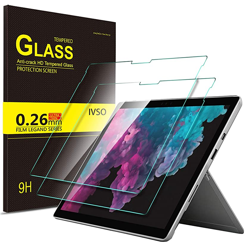 Luibor Surface Pro 6 Screen Protector Ultra-thin 9H Hardness Highest Quality HD clear Tempered Glass Screen Protector for Microsoft Surface Pro 6 Tablet / Surface Pro (5th Gen) / Surface Pro 4 (2Pcs)