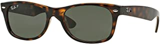 Ray Ban RB2132 New Wayfarer, Tortoise Frame/Green...
