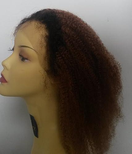 barato en línea Prettyloxx Virgen Ombre de Brasil Afro Curl completo encaje WIG- WIG- WIG- Color 1B 30  envío gratuito a nivel mundial