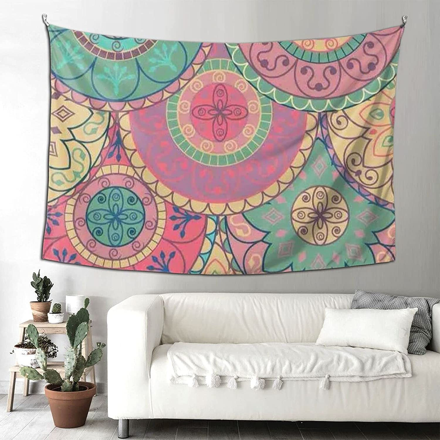 Tapestries SEAL limited product Wall NEW before selling Art Colorful Fan Aesthetic Tapest Flower Mandala
